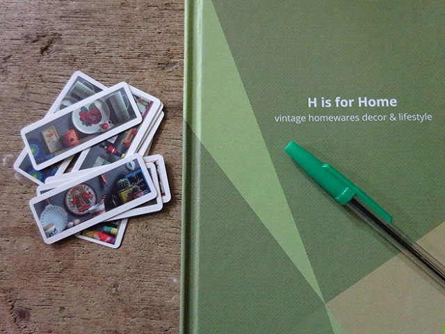 Personalised H is for Home Toad diary