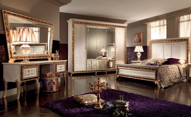 Renaissance-inspired bedroom suite