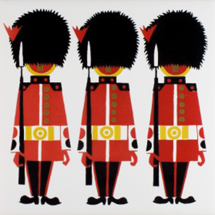 vintage Kenneth Townsend designed ceramic tile of Coldstream guardsmen | H is for Home