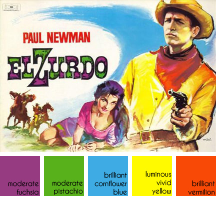 "vintage poster from ""El Zurdo"" aka ""The Left Handed Gun"" starring Paul Newman"
