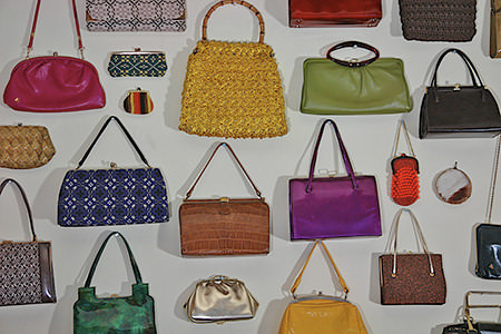 Adelle's collection of vintage handbags