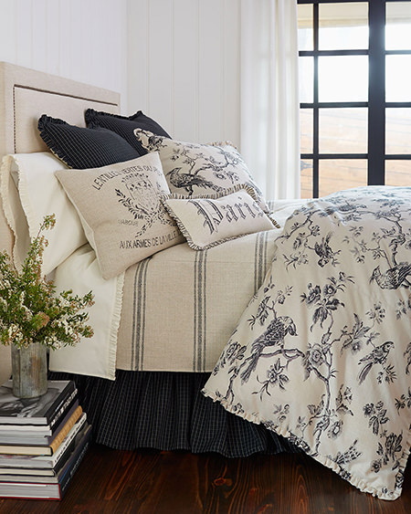 French-inspired bedding from Neiman Marcus