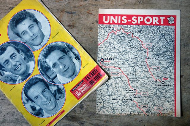 Vintage Unis Sport Tour de France map | H is for Home