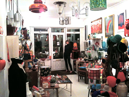 interior view of Wowie Zowie vintage shop in Chorlton, Manchester