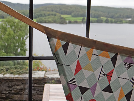 Bunting made from relaunched David Whitehead fabric