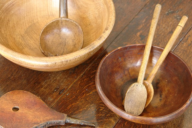 Display of antique wooden items for sale in our new shop space | H is for Home
