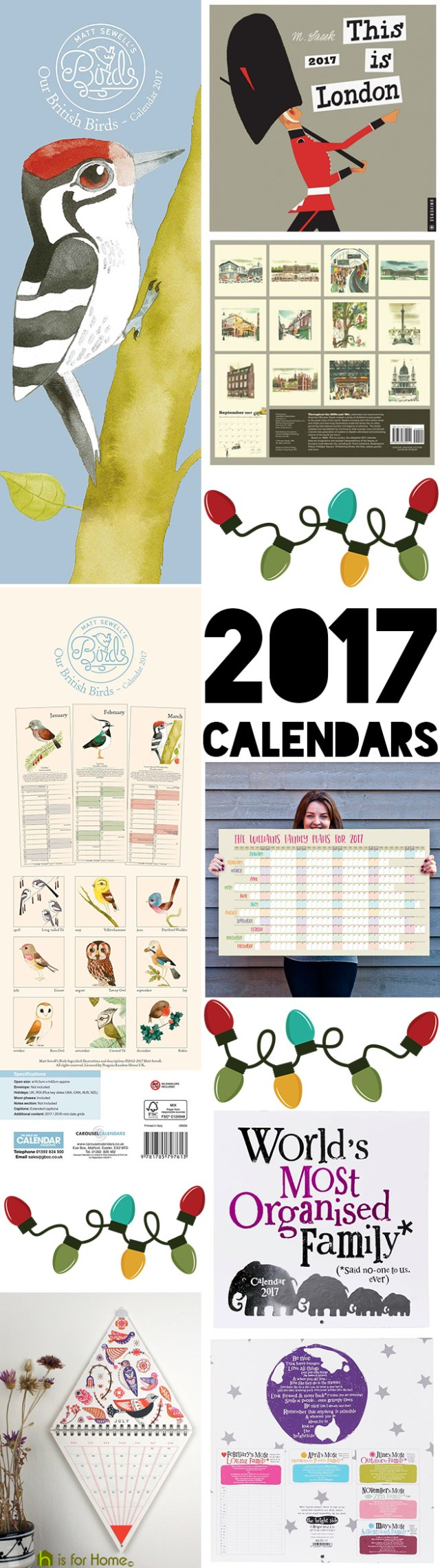 Selection of 2017 calendars | H is for Home