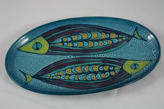 vintage pottery plate