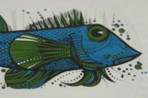 vintage fish plate detail