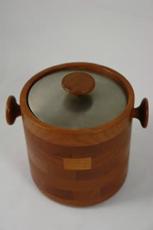 vintage Viners teak & stainless steel ice bucket | H is for Home