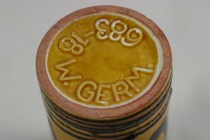 Base detail of West German vase