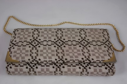 Vintage Welsh wool handbag   H is for Home