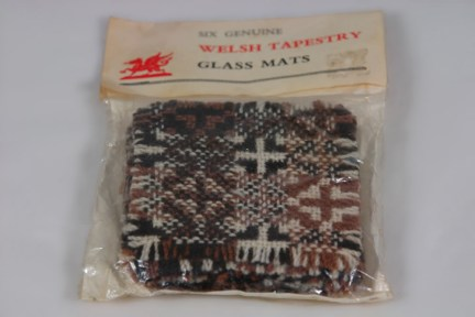 Vintage Welsh wool coasters in original packaging | H is for Home