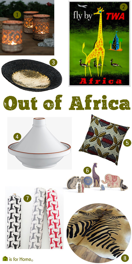 'Out of Africa' mood board curated by H is for Home