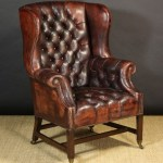 Wednesday Wish: Antique leather Chesterfield armchair