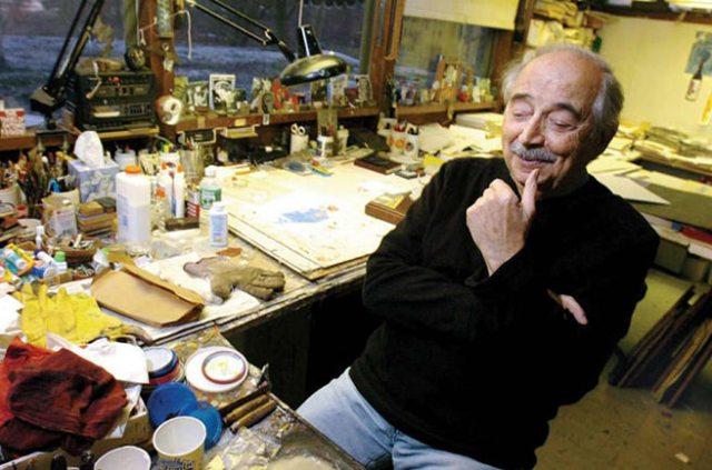 Antonio Frasconi at work