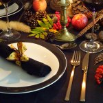 Sponsored: Dark and dramatic autumn table setting