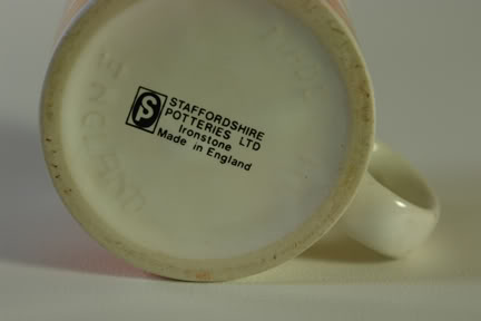 Bottom of a vintage Staffordshire Potteries Ltd mug | H is for Home