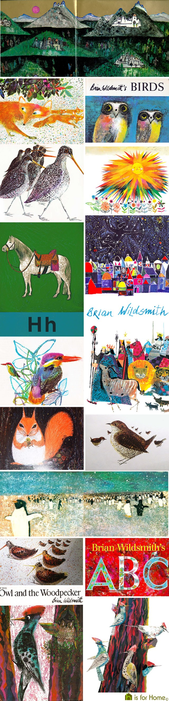 Mosaic of Brian Wildsmith illustrations | H is for Home