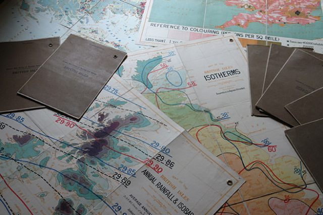 Collection of vintage British maps   H is for Home