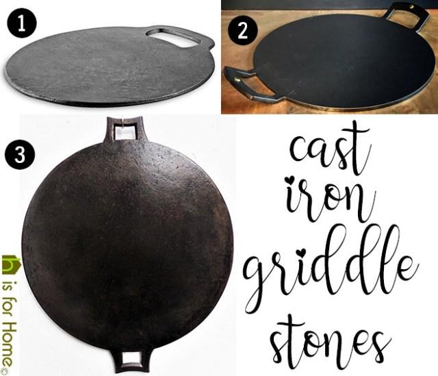 Cast iron griddle stones