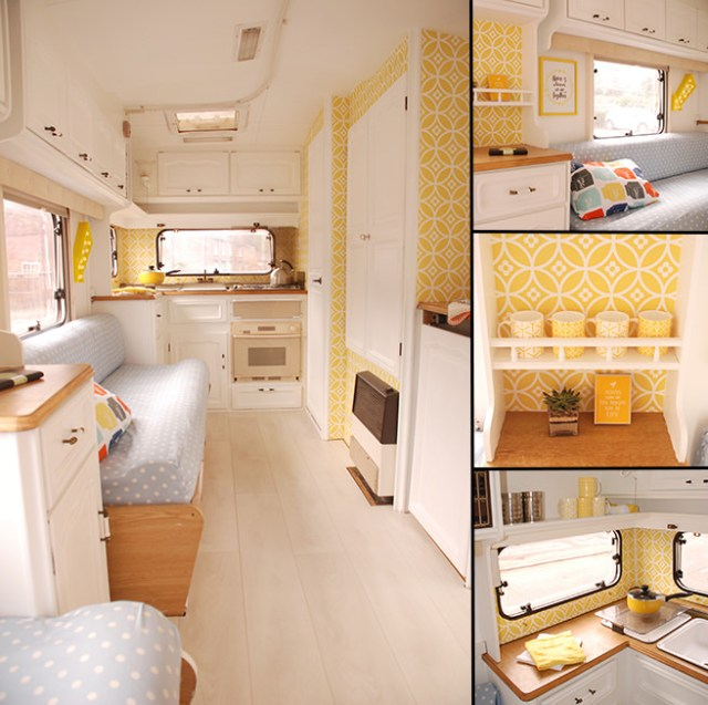 Cheery caravan belonging to Caro Davies of The Twinkle Diaries