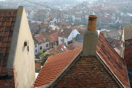 View across rooftops of Whitby | H is for Home