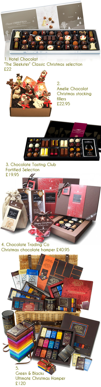selection of festive Christmas chocolate boxes & gifts   H is for Home