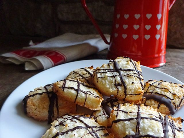 Home-made coconut macaroon hearts | H is for Home