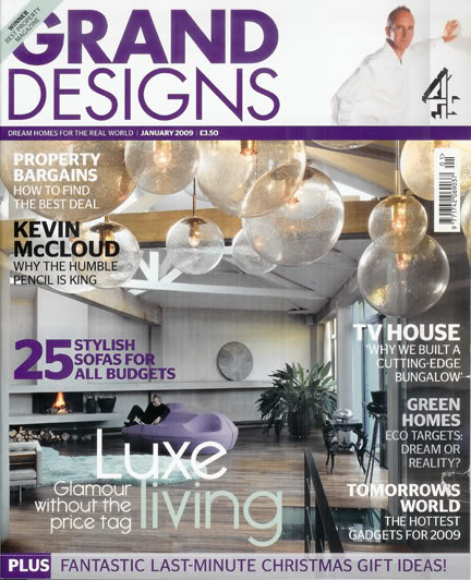 Grand Designs magazine cover, Jan 09 issue