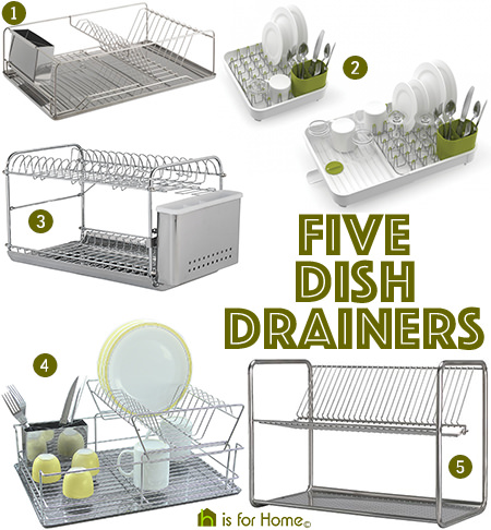 Selection of 5 dish drainers