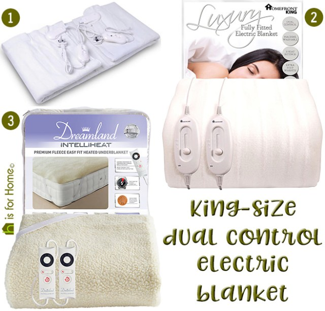 Selection of 3 king-size, dual-control electric blankets | H is for Home