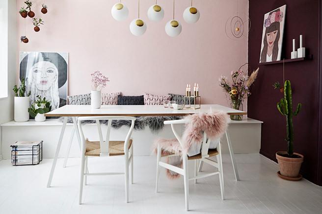 Get Their Look: Feminine Scandi Dining Room