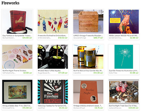 'Fireworks' Etsy List curated by H is for Home