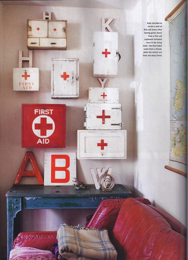 Collection of vintage first aid boxes