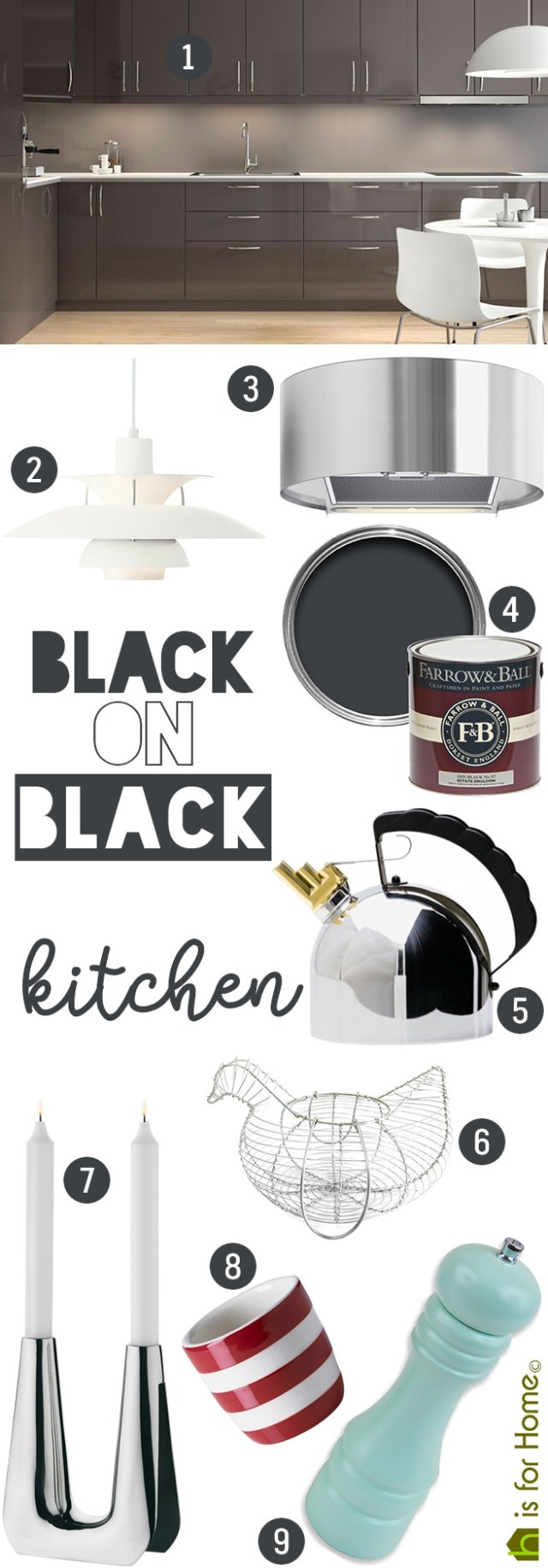 Get their look: Black on black kitchen | H is for Home
