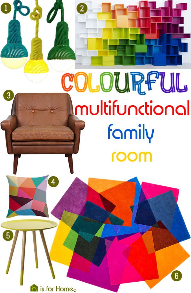 Get their look: Colourful multifunctional family room | H is for Home