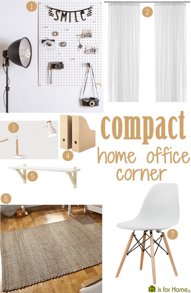 Get their look: Compact home office corner | H is for Home