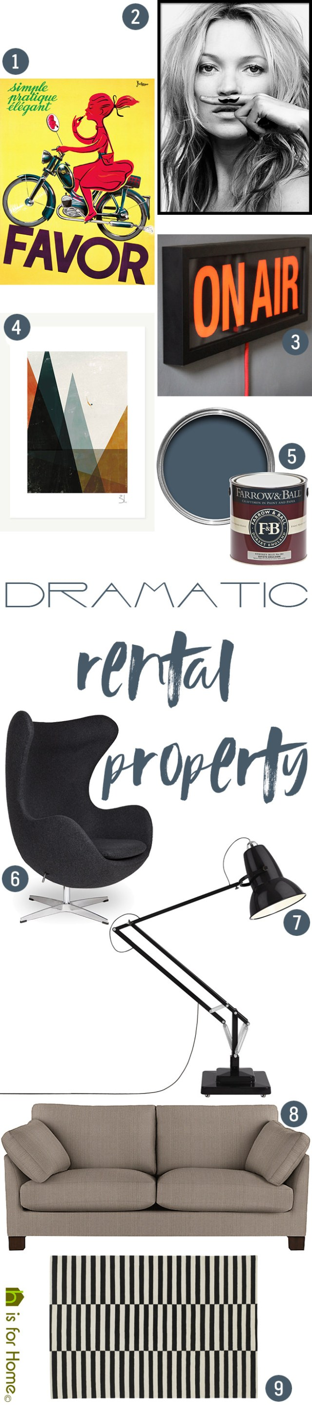 Get their look: Dramatic rental property | H is for Home