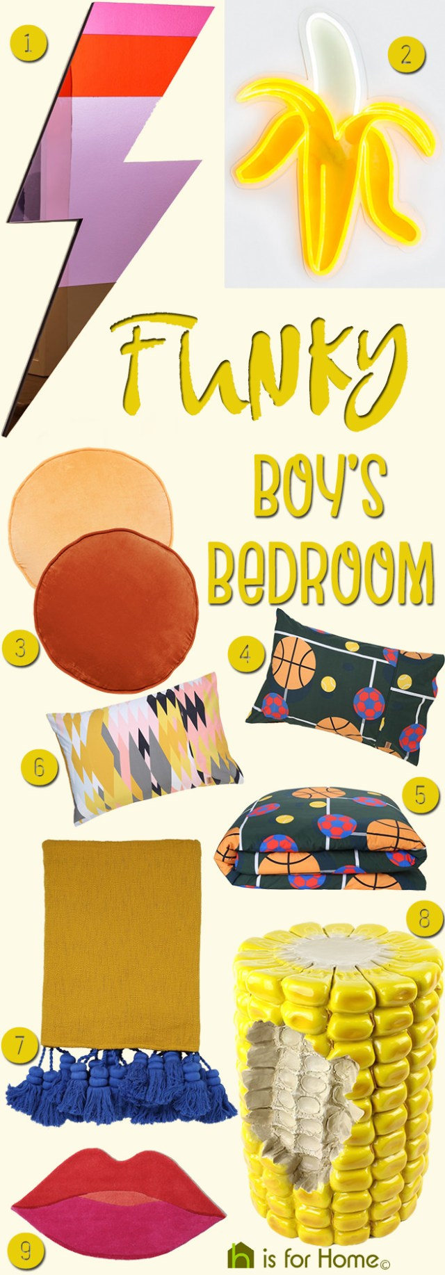 Get their look: Funky boy's bedroom | H is for Home