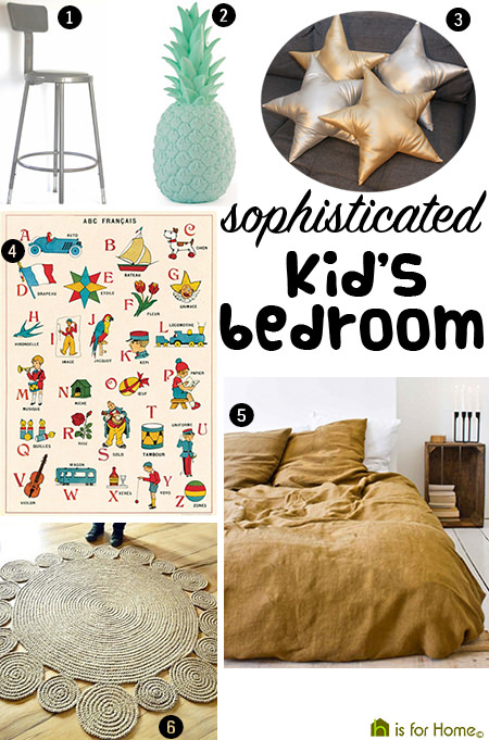 Get their look: Sophisticated kid's bedroom