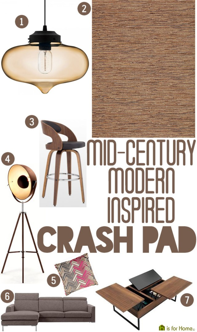Get their look: Mid-century Modern-inspired crash pad | H is for Home