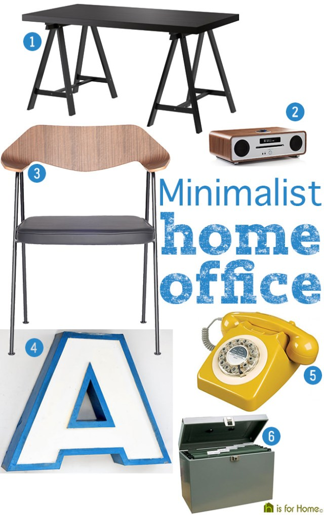 How to get the minimalist home office look | H is for Home