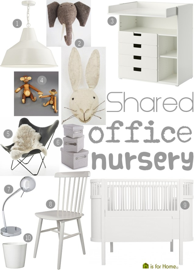 Get their look: Shared office nursery | H is for Home