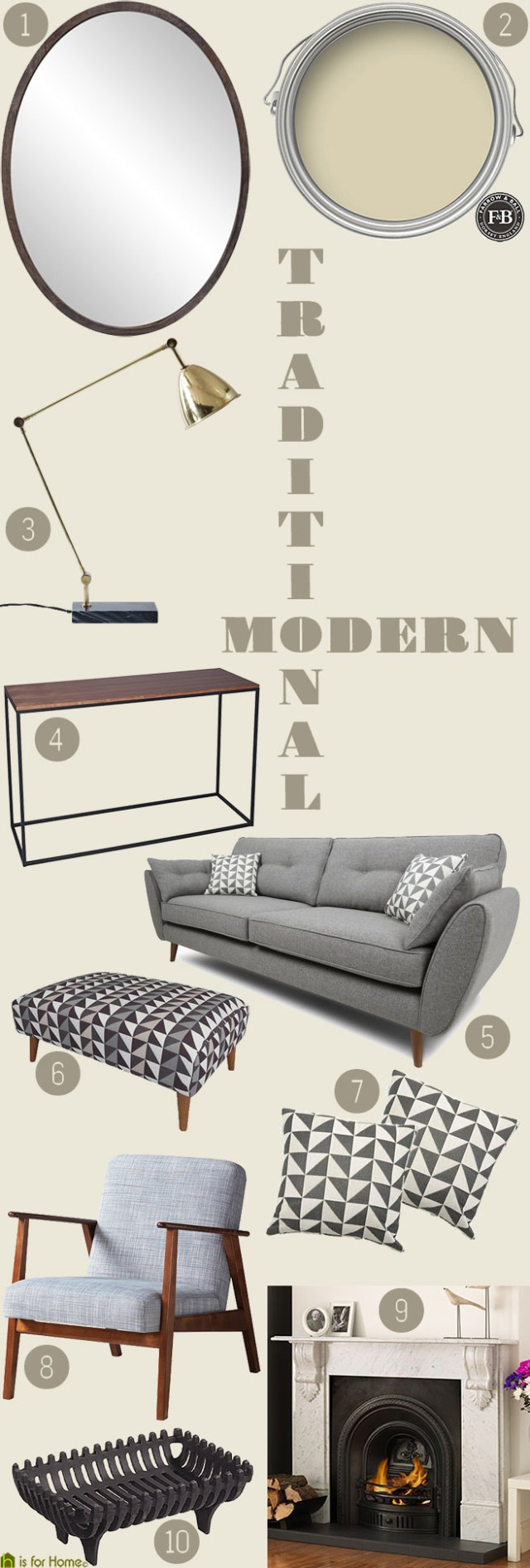 Get their look: traditional yet modern living room | H is for Home