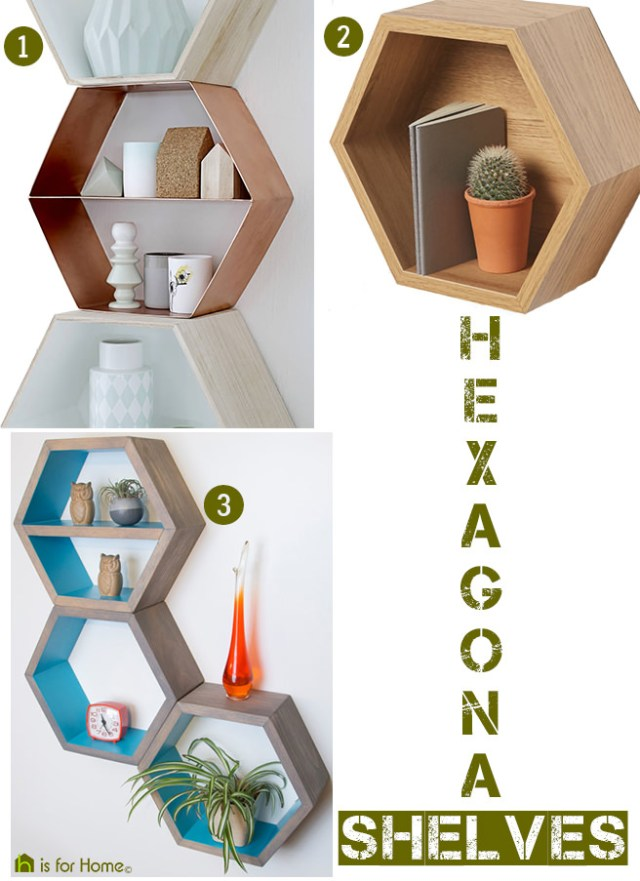 Selection of hexagonal shelves | H is for Home