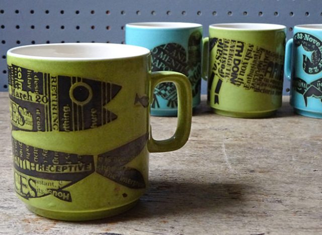Vintage horoscope mugs designed by John Clappison for Hornsea Pottery | H is for Home