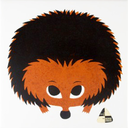Vintage Kenneth Townsend hedgehog tile | H is for Home