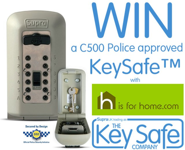Win a Supra C500 Outdoor Key Safe | H is for Home