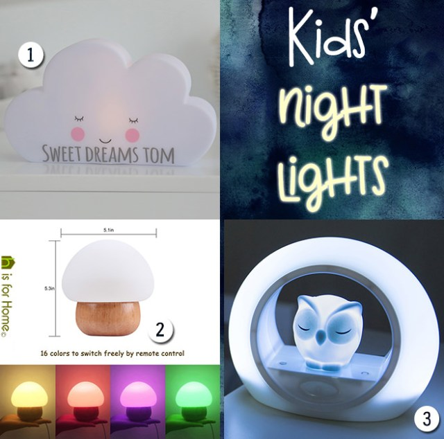 Three kids' night lights | H is for Home